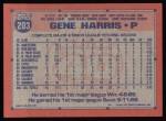 1991 Topps #203  Gene Harris  Back Thumbnail
