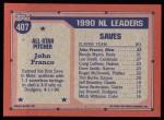 1991 Topps #407   -  John Franco All-Star Back Thumbnail