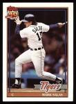 1991 Topps #498  Mark Salas  Front Thumbnail