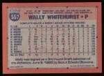 1991 Topps #557  Wally Whitehurst  Back Thumbnail