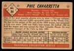1953 Bowman #30  Phil Cavarretta  Back Thumbnail