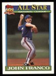 1991 Topps #407   -  John Franco All-Star Front Thumbnail