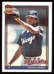 1991 Topps #499  Melido Perez  Front Thumbnail