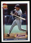 1991 Topps #533  Oddibe McDowell  Front Thumbnail