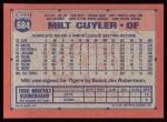 1991 Topps #684  Milt Cuyler  Back Thumbnail