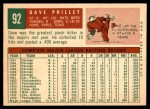 1959 Topps #92  Dave Philley  Back Thumbnail