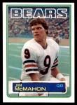 1983 Topps #33  Jim McMahon  Front Thumbnail