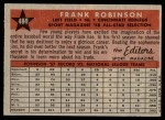 1958 Topps #484   -  Frank Robinson All-Star Back Thumbnail