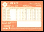 2013 Topps Heritage #16  Cliff Lee  Back Thumbnail