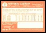 2013 Topps Heritage #31  Asdrubal Cabrera  Back Thumbnail