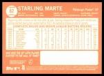 2013 Topps Heritage #62  Starling Marte  Back Thumbnail