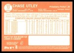2013 Topps Heritage #72  Chase Utley  Back Thumbnail