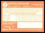 2013 Topps Heritage #103  Gordon Beckham  Back Thumbnail