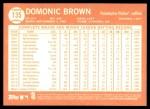 2013 Topps Heritage #135  Domonic Brown   Back Thumbnail