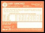 2013 Topps Heritage #163  Gaby Sanchez  Back Thumbnail