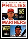 2013 Topps Heritage #226   -  Steven Lerud / Luis Antonio Jumenez Rookies Front Thumbnail