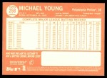 2013 Topps Heritage #258  Michael Young  Back Thumbnail