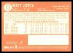 2013 Topps Heritage #272  Matt Joyce  Back Thumbnail