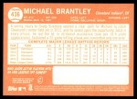 2013 Topps Heritage #436  Michael Brantley  Back Thumbnail