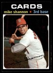1971 Topps #735  Mike Shannon  Front Thumbnail