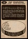 1965 Topps #120  Pat Stapleton  Back Thumbnail