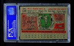 1956 Topps #130 GRY Willie Mays  Back Thumbnail