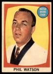 1961 Topps #1  Phil Watson  Front Thumbnail