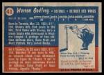 1957 Topps #41  Warren Godfrey  Back Thumbnail