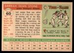 1955 Topps #60  Dean Stone  Back Thumbnail