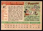 1955 Topps #67 DOT Wally Moon  Back Thumbnail