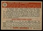 1952 Topps #119  Mickey McDermott  Back Thumbnail