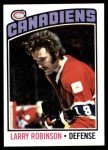 1976 Topps #151  Larry Robinson  Front Thumbnail