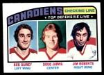 1976 Topps #217   -  Bob Gainey / Doug Jarvis / Jim Roberts Top Scoring Line Front Thumbnail
