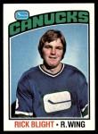 1976 Topps #238  Rick Blight  Front Thumbnail