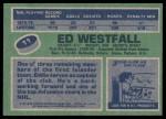 1976 Topps #11  Ed Westfall  Back Thumbnail