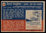 1957 Topps #66  Dave Creighton  Back Thumbnail