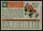 1959 Topps #183  Stu Miller  Back Thumbnail