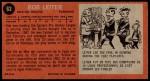 1964 Topps #63  Bob Leiter  Back Thumbnail