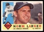 1960 Topps #394  Norm Larker  Front Thumbnail