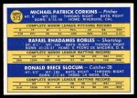 1970 Topps #573   -  Rafael Robles / Ron Slocum / Mike Corkins Padres Rookies Back Thumbnail