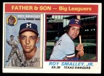 1976 Topps #70   -  Roy Smalley / Roy Smalley Jr . Father & Son Front Thumbnail