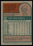 1975 Topps #609  Ellie Hendricks  Back Thumbnail