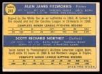 1970 Topps #241   -  Al Fitzmorris / Scott Northey Royals Rookies Back Thumbnail
