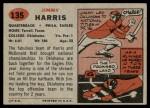 1957 Topps #135  Jimmy Harris  Back Thumbnail