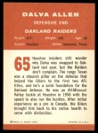 1963 Fleer #65  Dalva Allen  Back Thumbnail