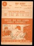 1963 Topps #4  Ray Berry  Back Thumbnail