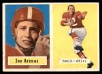 1957 Topps #66  Joe Arenas  Front Thumbnail