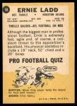 1967 Topps #58  Ernie Ladd  Back Thumbnail