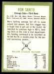1963 Fleer #32  Ron Santo  Back Thumbnail