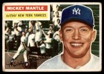 1956 Topps #135 WHT Mickey Mantle  Front Thumbnail